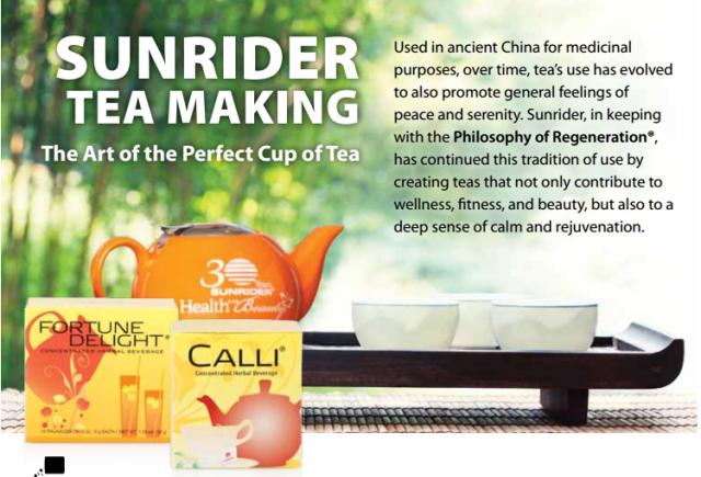 Calli Tea By Sunrider Cleansing Detox Tea